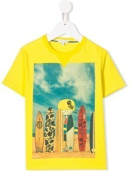 Little Marc Jacobs Mr Marc print T-shirt - Yellow