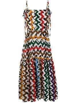 Edeline Lee zig zag print dress - White