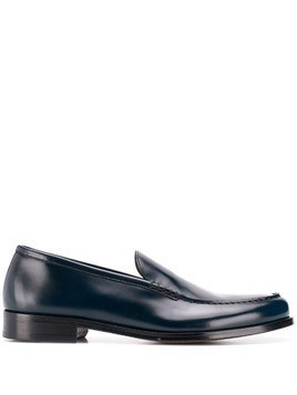 Doucal's almond toe loafers - Blue