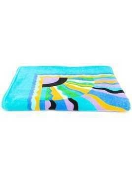 Emilio Pucci printed beach towel - Blue