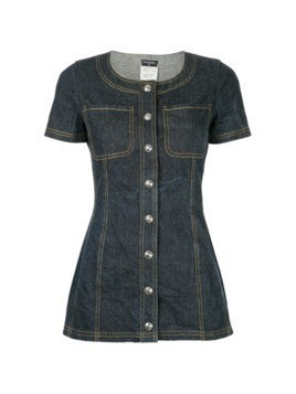 Chanel Vintage shortsleeved denim mini dress - Blue