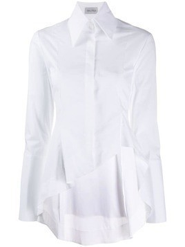 Balossa White Shirt oversized collar shirt