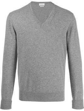 Ballantyne long-sleeve fitted sweater - Grey