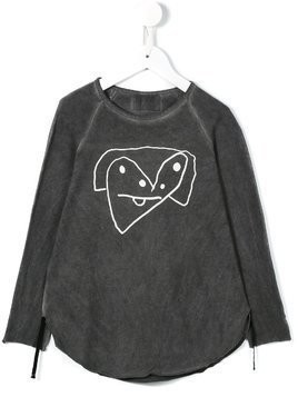 Lost And Found Kids printed top - Grey