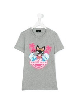 Dsquared2 Kids print T-shirt - Grey