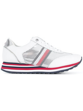 Tommy Hilfiger Flag mesh sneakers - White