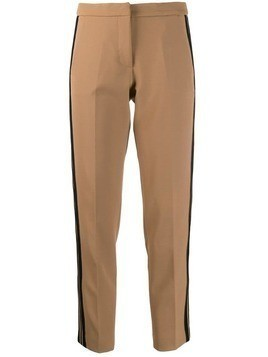 Ermanno Ermanno contrast-stripe tailored trousers - Neutrals