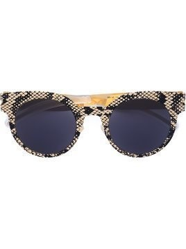 Mykita snakeskin effect sunglasses - Black