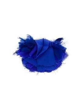 LANVIN frayed flower brooch - Blue