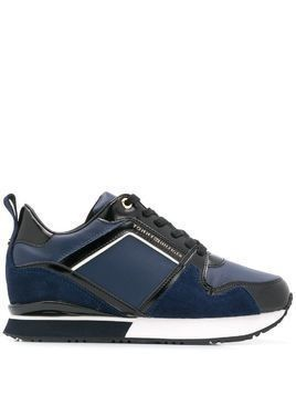 Tommy Hilfiger patent wedge sneakers - Blue