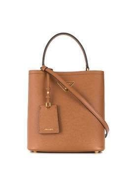 Prada medium Panier top-handle bag - Brown