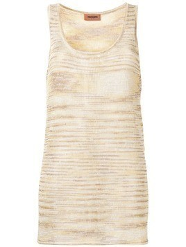 Missoni flared knitted top - Neutrals