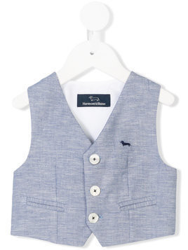 Harmont & Blaine Junior embroidered logo gilet - Blue