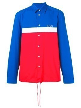 Kenzo colour-block shirt jacket - Red
