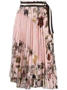 Ermanno Ermanno floral print pleated skirt - PINK