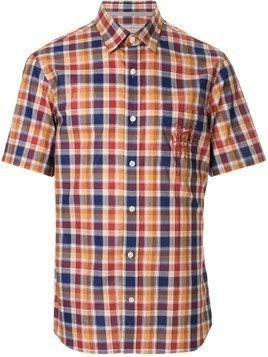 Gieves & Hawkes check short-sleeve shirt - Multicolour
