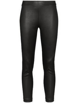 Ann Demeulemeester Slim Leg Leather Leggings - Black