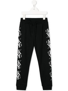 Calvin Klein Kids side logo joggers - Black