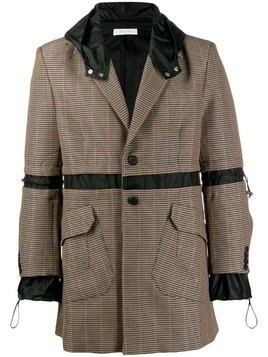 Delada check hooded blazer - Neutrals
