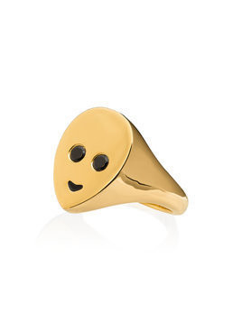 Maria Nilsdotter gold plated silver alien ring - Metallic