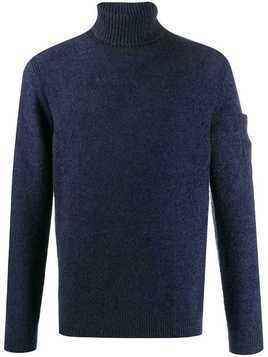 CP Company roll neck knitted jumper - Blue