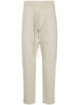 Bassike drawstring straight-leg trousers - Brown