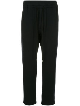 Bassike drawstring fitted trousers - Black