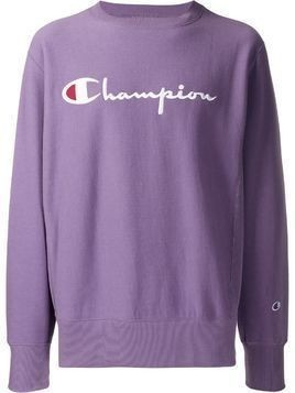 Champion embroidered logo jumper - PURPLE