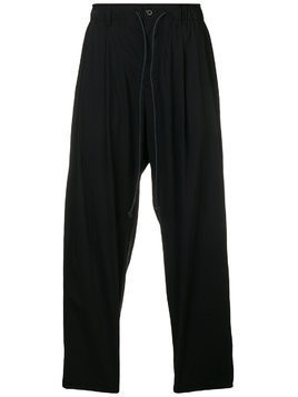 Attachment elasticated waist trousers - Black