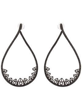Joëlle Jewellery gothic teardrop diamond earrings - Black