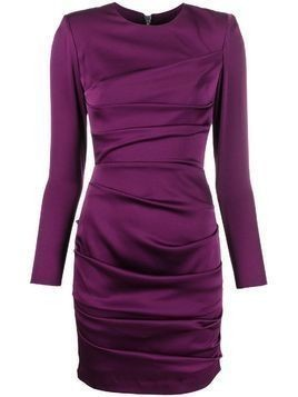Alex Perry fitted ruched dress - PURPLE