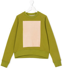 Ioana Ciolacu Kids colour-block sweatshirt - Green
