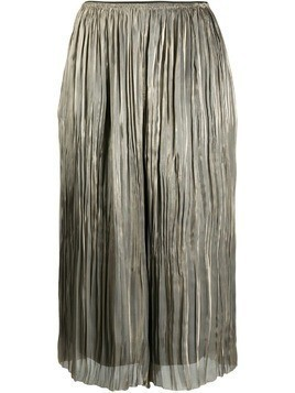 Vince iridescent pleated culottes - Metallic