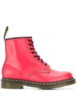 Dr. Martens lace-up combat boots - Red