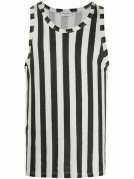 Saint Laurent striped tank top - White