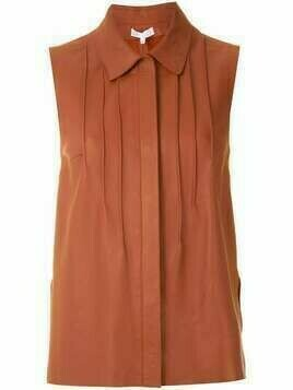 Nk Ruby pleated front shirt - Brown