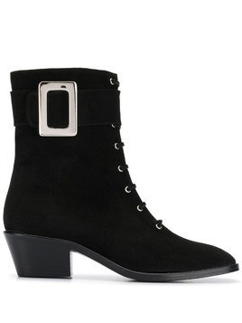 Dorateymur buckle detail lace-up boots - Black