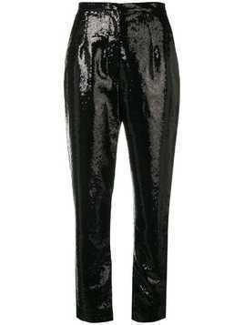 Elie Saab sequins embroidered trousers - Black
