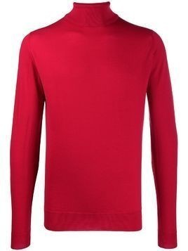 John Smedley Cherwell roll neck sweater - Red