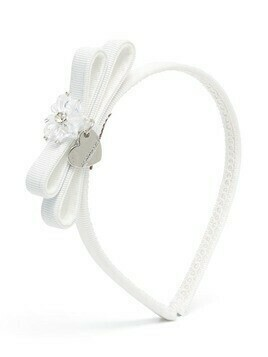 Monnalisa bow-embellished headband - White