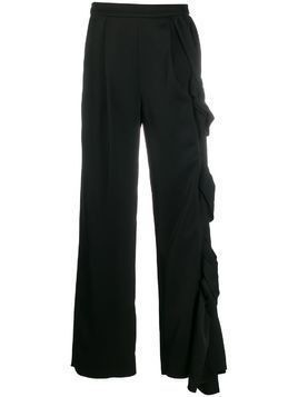 Loewe twisted wide-leg trousers - Black