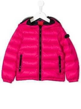 Ai Riders On The Storm Kids visor detail padded coat - Pink