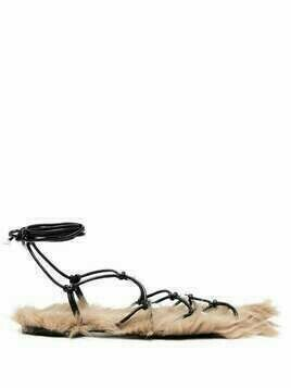 Altuzarra pear-detail furry sandals - Black