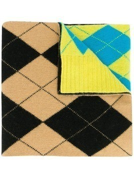 Pringle Of Scotland Reissued argyle Intarsia scarf - Yellow