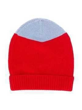 Marni Kids two tone knitted beanie - Red
