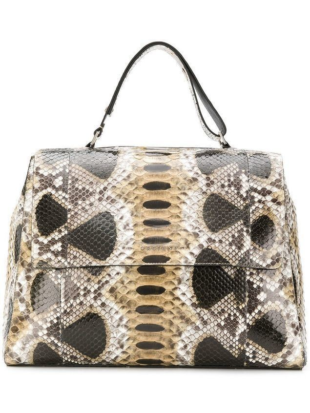 Orciani flap tote bag - Neutrals