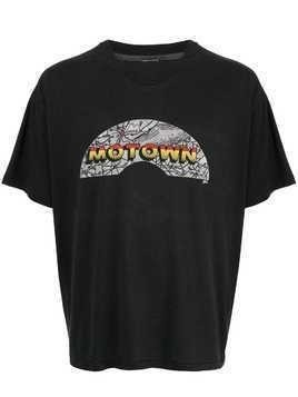Fake Alpha Vintage Motown print T-shirt - Black