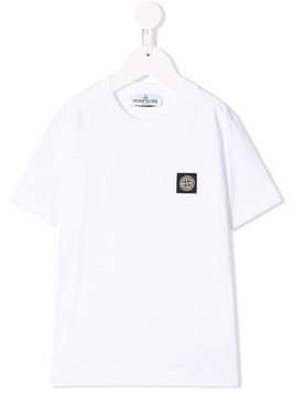 Stone Island Junior logo patch T-shirt - White