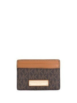 Michael Michael Kors Jet Set monogram cardholder - Brown