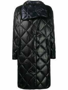 Fay diamond-quilted mid-length coat - Blue